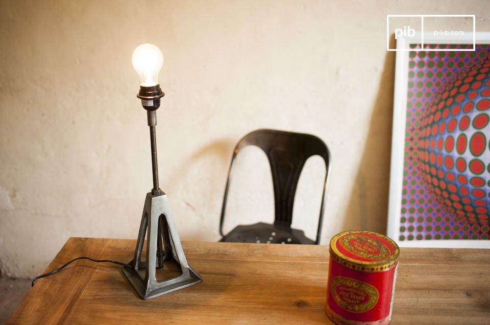 Een retro lamp met industriële stijl