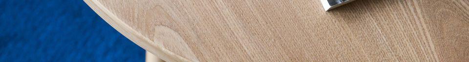 Benadrukte materialen Estrella houten bijzettafel