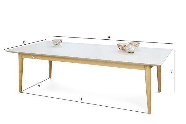 Productafmetingen Fjord rechthoekige salontafel