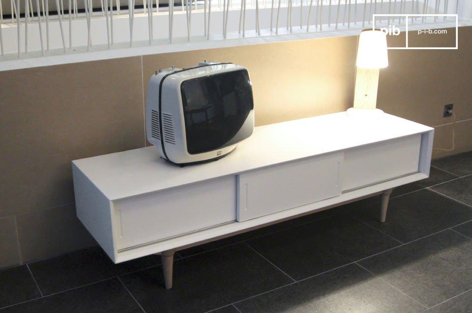 Tv-meubel met een retro Scandinavische look