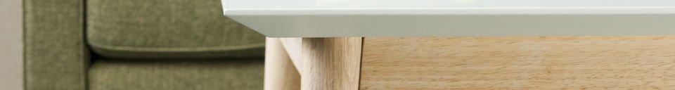Benadrukte materialen Fjord vierkante salontafel
