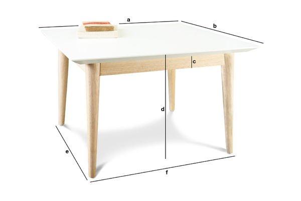 Productafmetingen Fjord vierkante salontafel