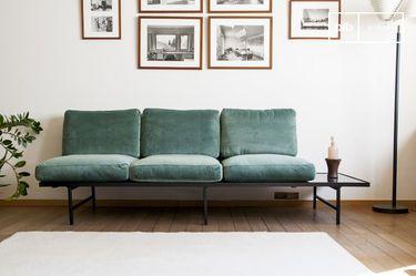 Fluwelen en marmeren sofa Cathy
