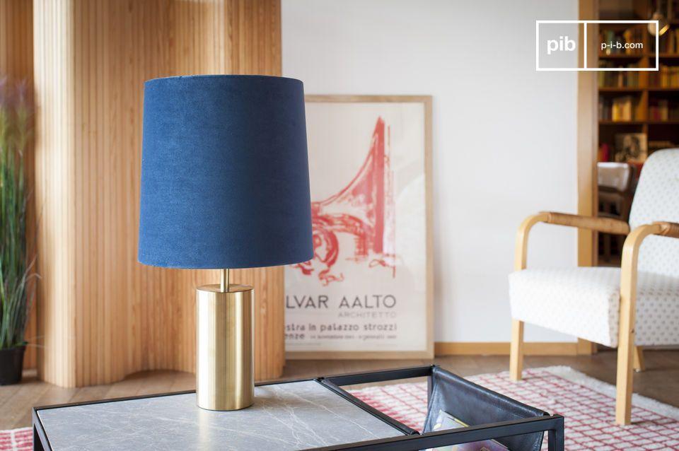 Fluwelen lamp en lampenkap Sarhita