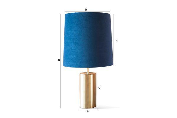 Productafmetingen Fluwelen lamp en lampenkap Sarhita
