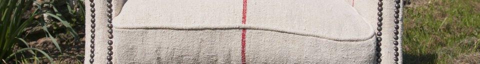 Benadrukte materialen Fontaine fauteuil van linnen