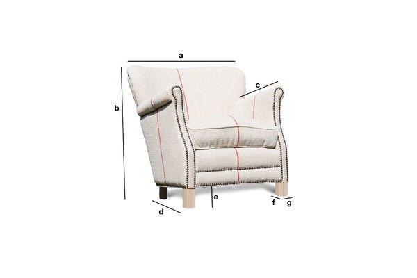 Productafmetingen Fontaine fauteuil van linnen
