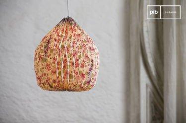 Gebloemde origami hanglamp