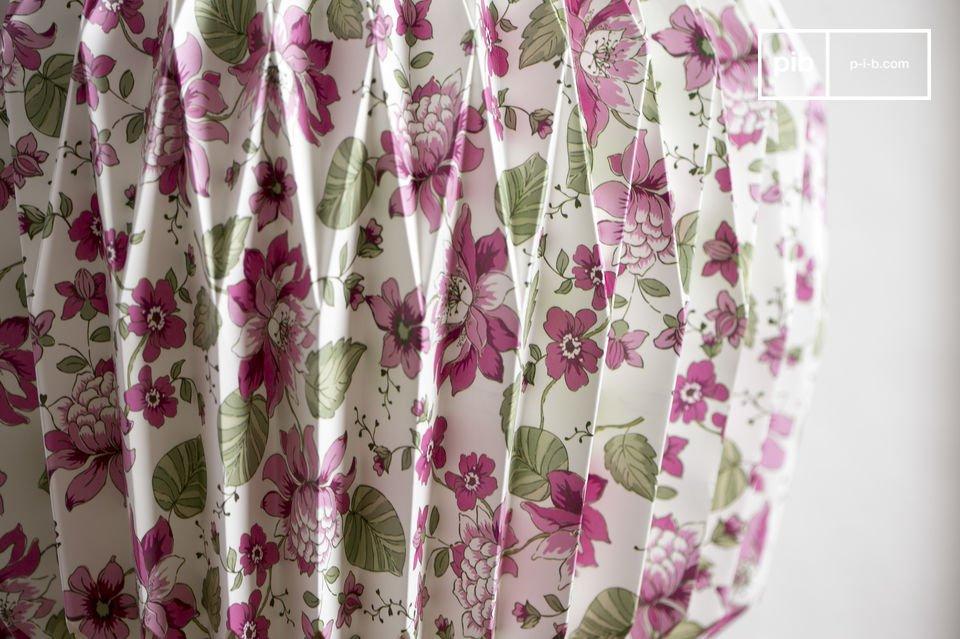 De gebloemde origami kleurrijke en design vintage hanglamp maakt indruk met zijn motieven van roze