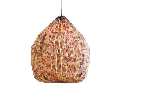 Gebloemde origami hanglamp Productfoto