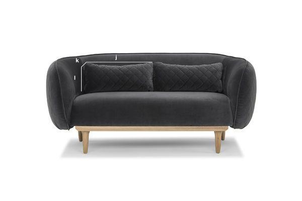 Productafmetingen Gebogen Olson Sofa