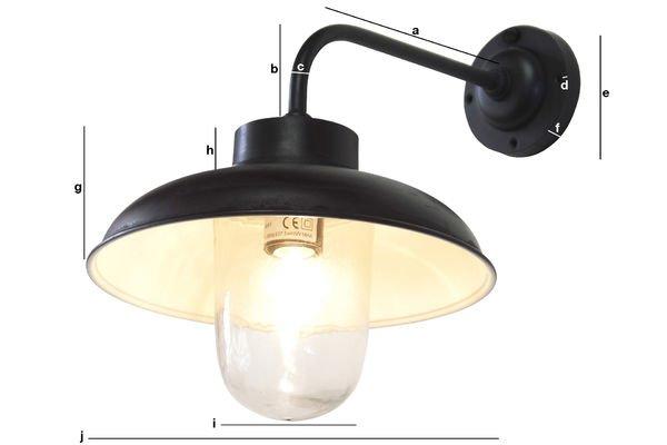 Productafmetingen Gebogen wandlamp