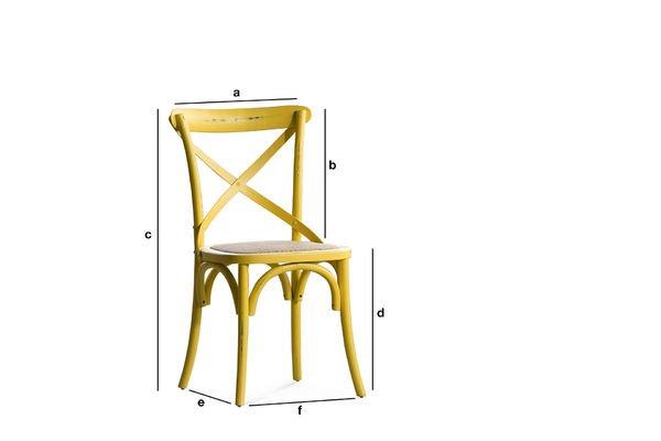 Productafmetingen Gele Pampelune stoel