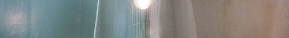 Benadrukte materialen Glass bell hanglamp