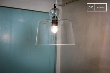 Glass bell hanglamp