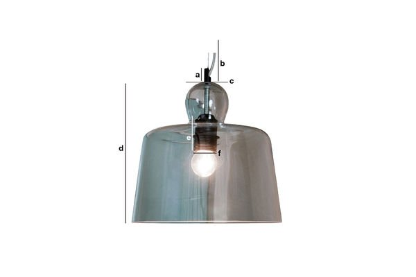 Productafmetingen Glass bell hanglamp