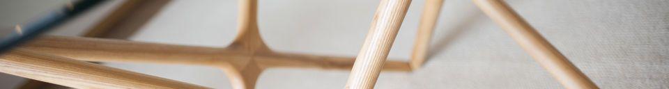 Benadrukte materialen Glazen eettafel Estrela