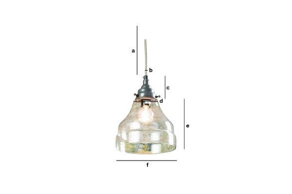 Productafmetingen Glazen hanglamp