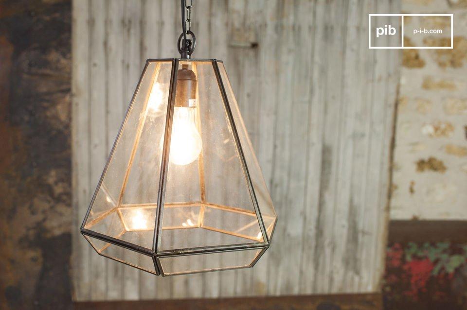 Glazen Trapèze hanglamp
