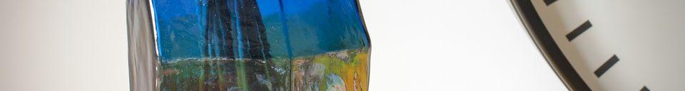 Benadrukte materialen Glazen vaas van Ingeborg