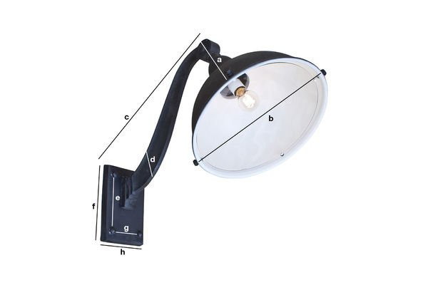 Productafmetingen Gooseneck pakhuis lamp