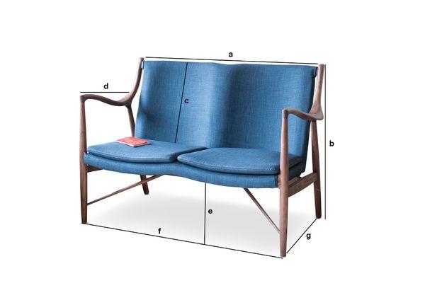 Productafmetingen Graham essen dubbele fauteuil