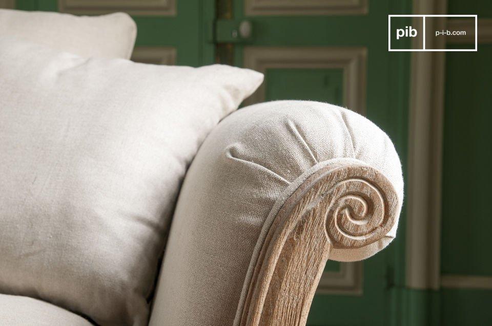 De kussens zijn van linnen en kunnen makkelijk verwijderd en gewassen worden