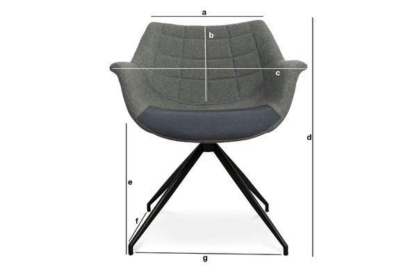 Productafmetingen Grey Grimsson fauteuil