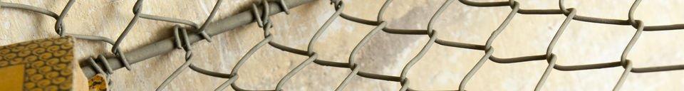 Benadrukte materialen Grid wandrek met 5 vakken