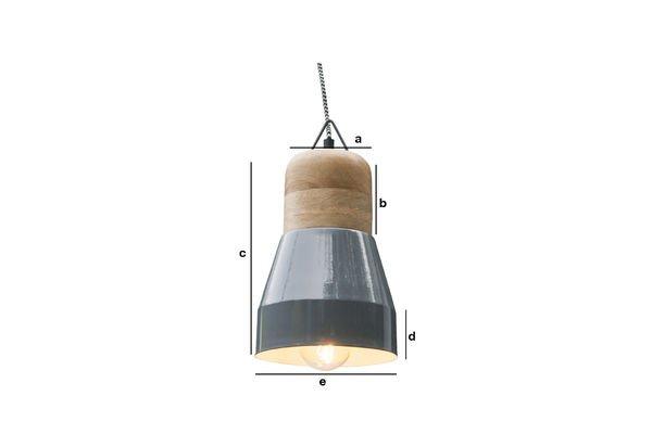 Productafmetingen Grijze Newark hanglamp