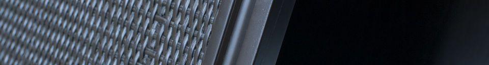 Benadrukte materialen Groot zwart buffert Hevaya