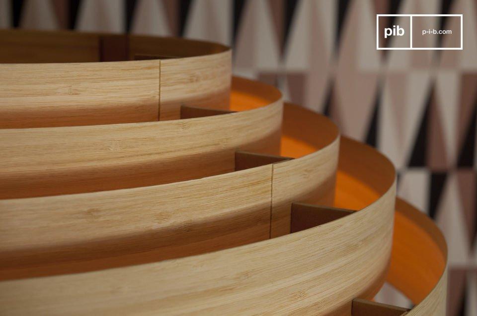 Deze bamboe hanglamp heeft het karakter van de Scandinavische stijl uit de jaren \'50