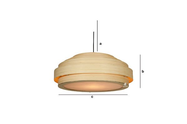 Productafmetingen Grote bamboe hanglamp