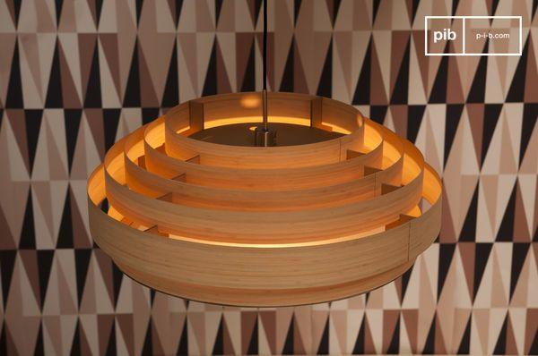 Grote bamboe plafondlamp