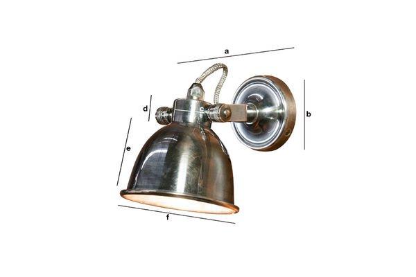 Productafmetingen Grote Bistro wandlamp