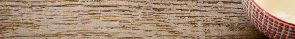 Benadrukte materialen Grote eikenhouten eettafel Barcelona