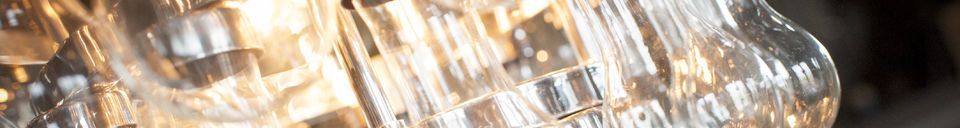 Benadrukte materialen Grote Glazen Kroonluchter Duizend Druppels