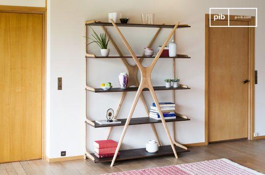 Grote houten boekenkast Waverly