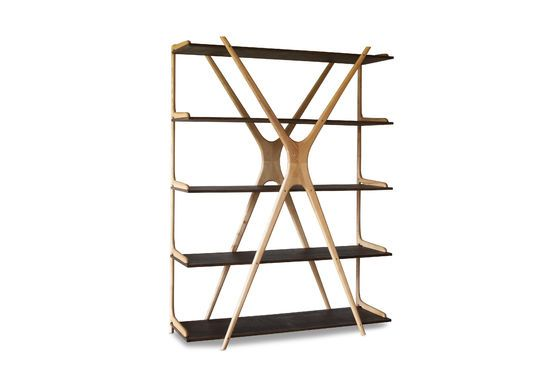 Grote houten boekenkast Waverly Productfoto
