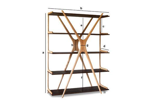 Productafmetingen Grote houten boekenkast Waverly