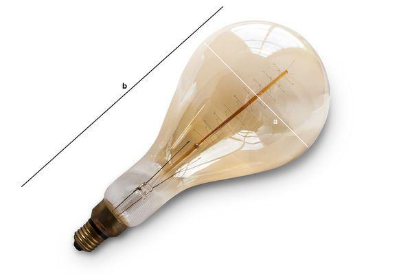 Productafmetingen Grote lamp met lange gloeidraad
