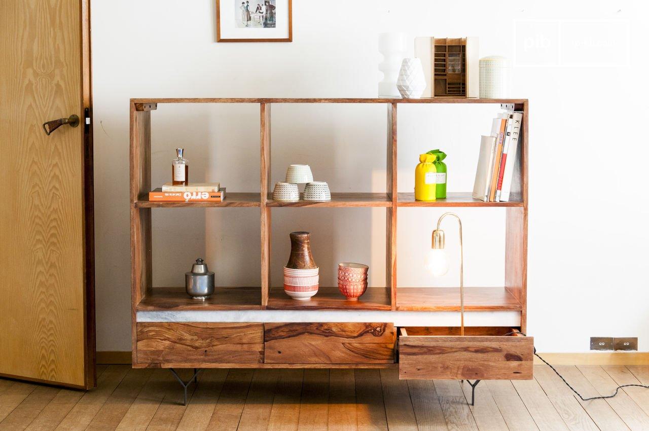 Yordën boekenkast - Elegante planken van hout & metaal   pib