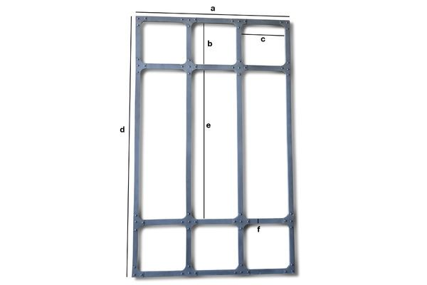 Productafmetingen Grote metalen spiegel