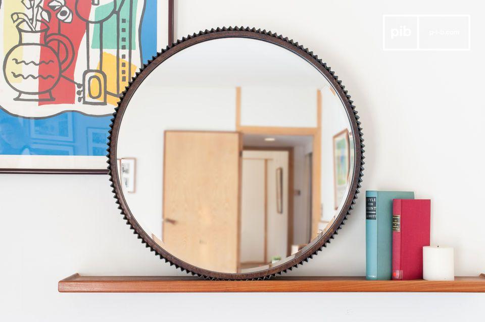 Welp Grote ronde spiegel Nathan - Een muurdecoratieobject op | pib SK-16