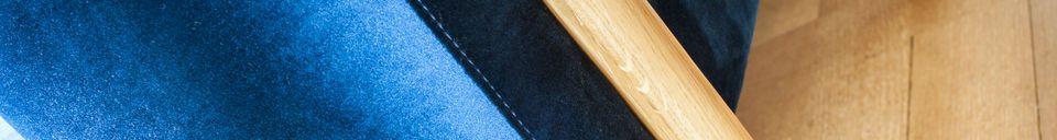 Benadrukte materialen Grote Viela Velvet Sofa