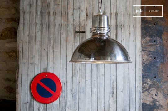 Grote zilveren hanglamp Lynce