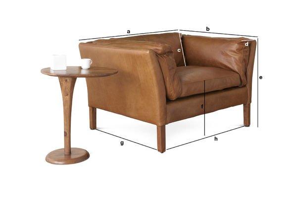 Productafmetingen Hamar fauteuil