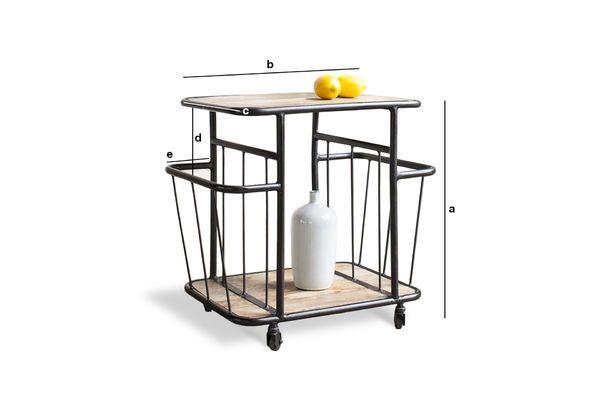 Productafmetingen Hamilton industriële trolley