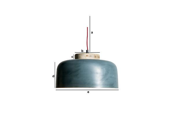 Productafmetingen Hanglamp Blue Mary