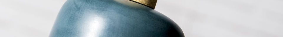 Benadrukte materialen Hanglamp Blue Terry
